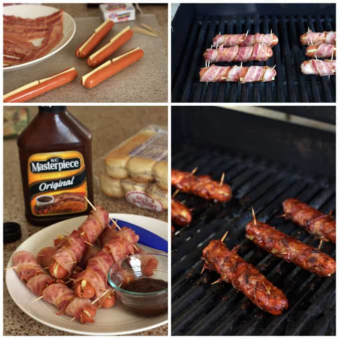 BBQ Bacon Cheese Hot Dogs - super easy - perfect for your next barbecue.