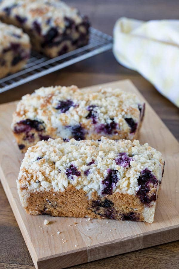 Kind of a cross between a blueberry muffin and a blueberry coffee cake.