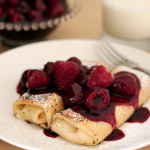 Triple Berry Lemon Cheese Blintzes