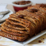 Whole Wheat Caramel Pecan Pull-Apart Bread