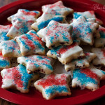 4th of July Lemon Cranberry Shortbread Cookies