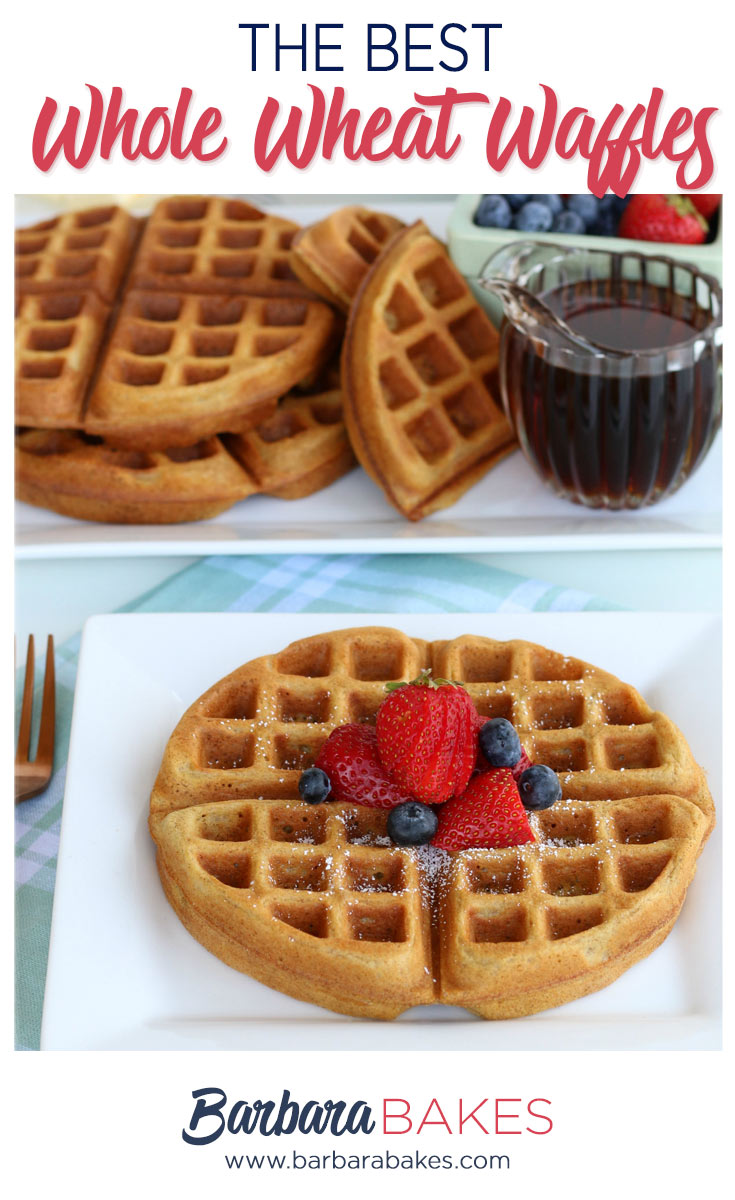 Whole Wheat Belgium waffle with berries and syrup