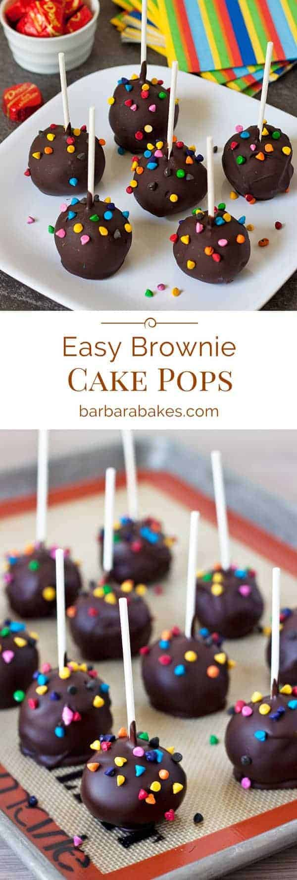 brownie cake pops easy brownie cake pops recipe from barbara bakes 2094