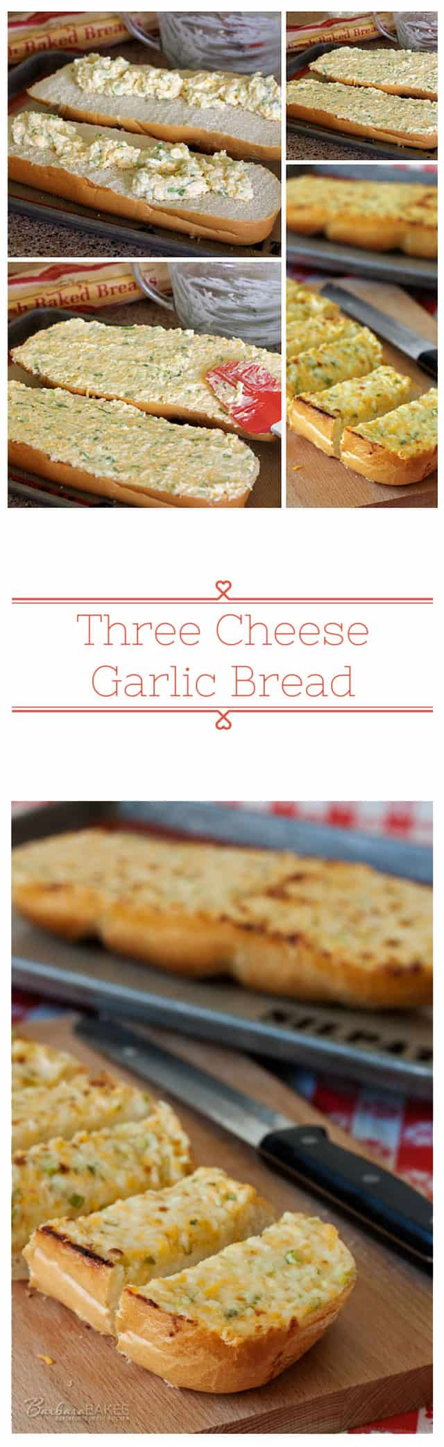 A restaurant style cheesy garlic bread that's ooey, gooey, rich and creamy, and crisp and crunchy.