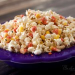 Candy Corn Popcorn for Halloween