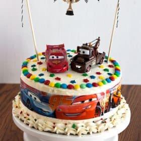 Cars Birthday Cake EasyToMake Kids Birthday Cake - Birthday cake barbara