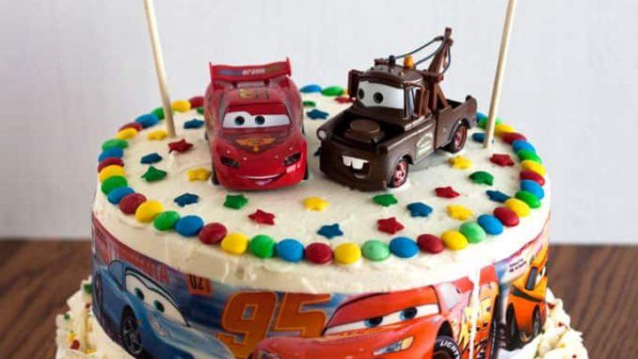 Enjoyable Cars Birthday Cake Easy To Make Kids Birthday Cake Funny Birthday Cards Online Hendilapandamsfinfo