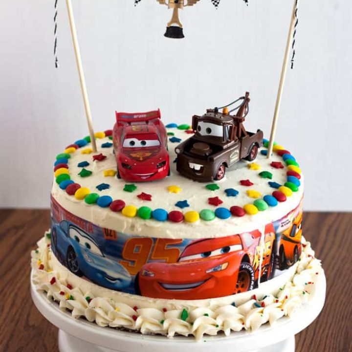 Fabulous Cars Birthday Cake Easy To Make Kids Birthday Cake Funny Birthday Cards Online Alyptdamsfinfo