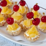No-Bake Pina Colada Cheesecake Bites