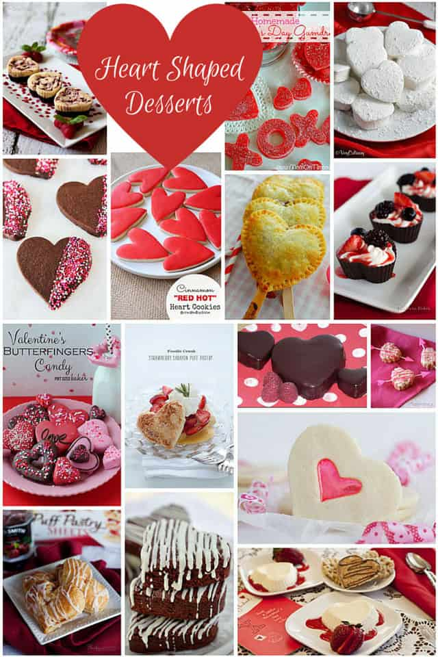 14 Heart Shaped Desserts for Valentine's Day recipe roundup on Barbara Bakes