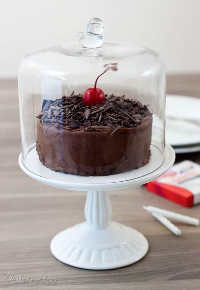 Cherry Chocolate Cake for Two from Barbara Bakes