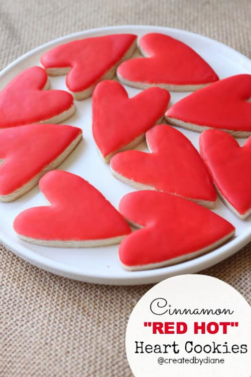"Cinnamon ""RED HOT"" Heart Cookies"
