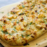 Lemon Artichoke Pesto Chicken Flatbread