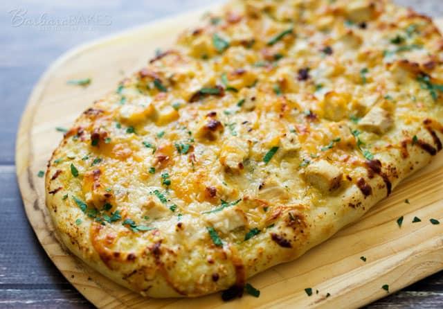 Easy to make Lemon Artichoke Pesto Chicken Flatbread