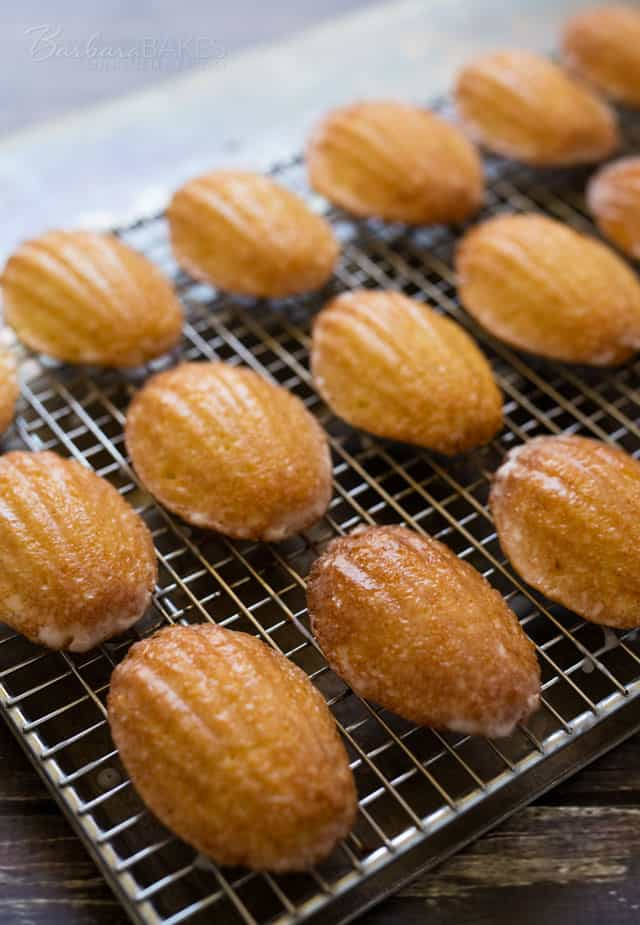 Lemon Glazed Madeleines - Barbara Bakes