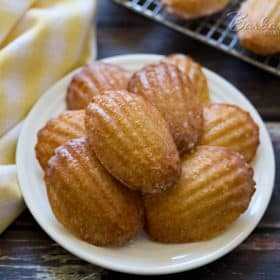 Lemon Glazed Madeleines - Barbara Bakes™