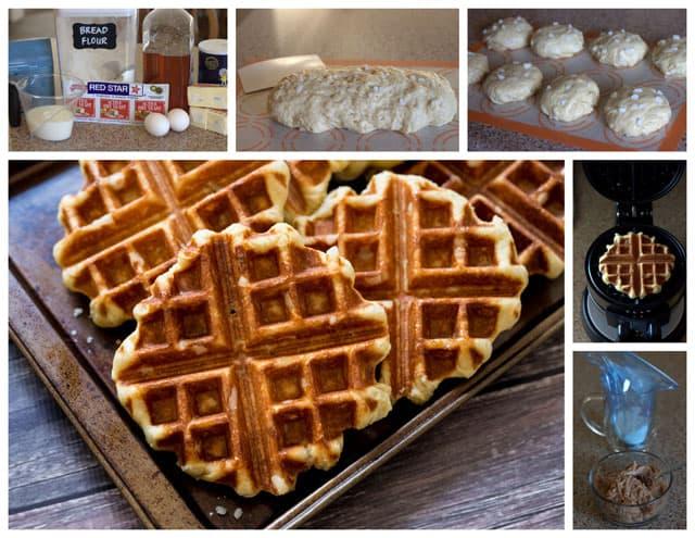 Making Cinnamon Roll Liege Waffles - Belgian Sugar Waffles
