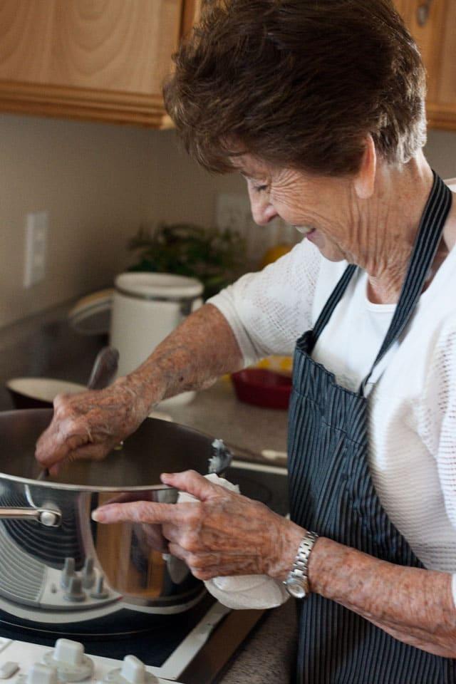 Betty Making Black Licorice Caramels