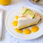 Key Lime Pie with Mango Sauce