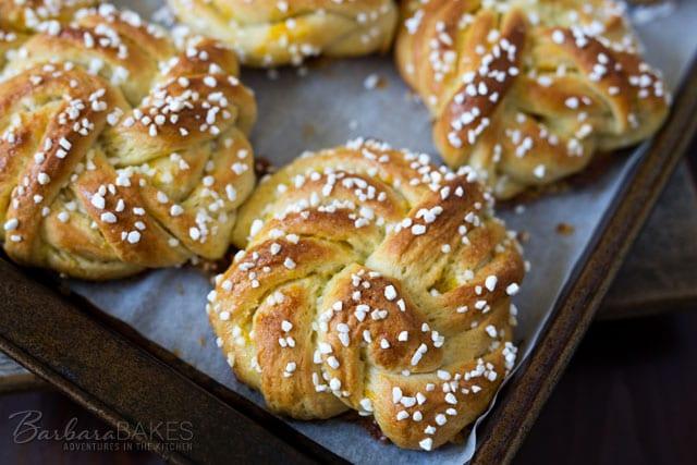 Swedish Orange Sweet Buns - Barbara Bakes