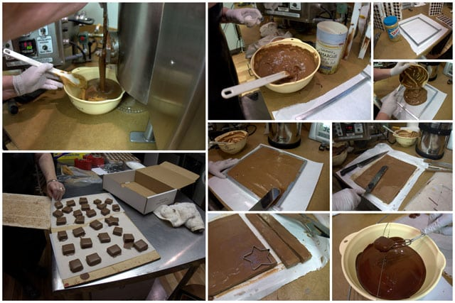 Making Peanut Butter Gianduja Chocolates