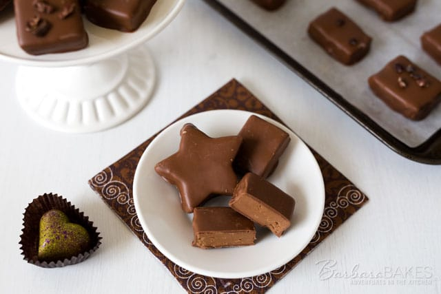 These Peanut Butter Gianduja Chocolates are an easy to make, creamy, rich peanut butter and chocolate truffle confection cut into fun shapes or bite size pieces.