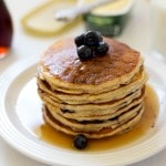 Whole Wheat Lemon Ricotta Blueberry Pancakes