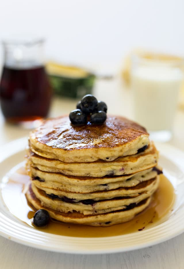 is in love with lemon ricotta pancakes . They're the only pancakes ...