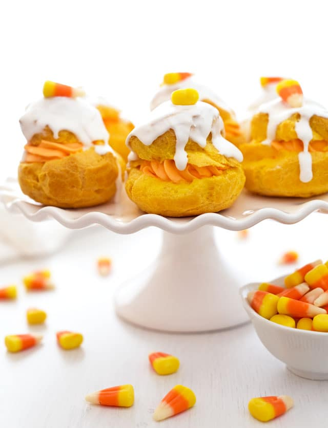These Candy Corn Cream Puffs take candy corn to a whole new level and ...