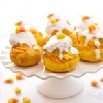 Candy Corn Cream Puffs