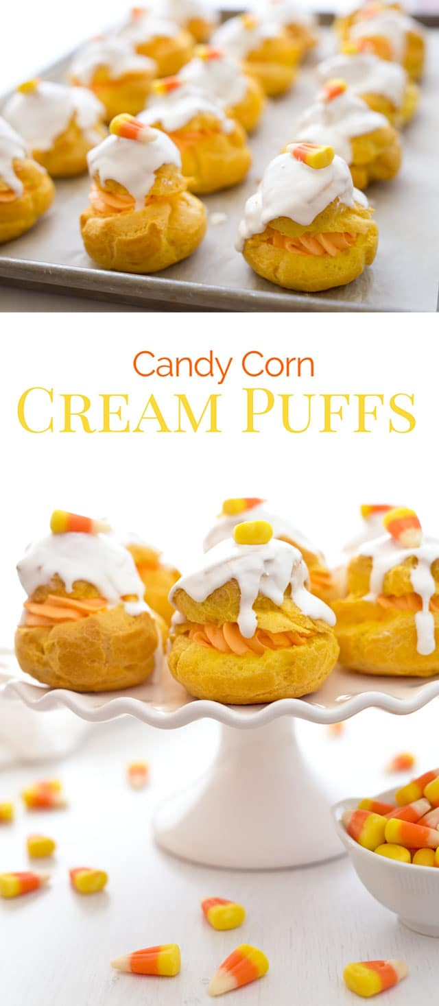 Candy Corn Cream Puffs Barbara Bakes