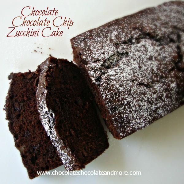 Chocolate Chocolate Chip Zucchini Cake from Chocolate Chocolate and More