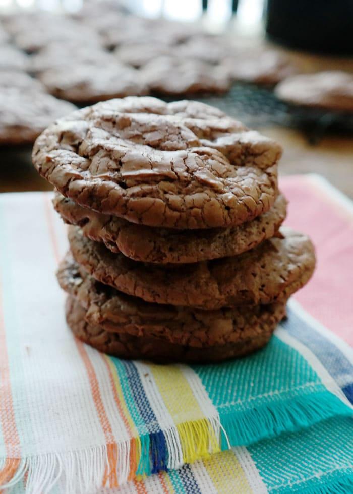 Dark Chocolate Truffle Cookies from Chocolate Chocolate and More