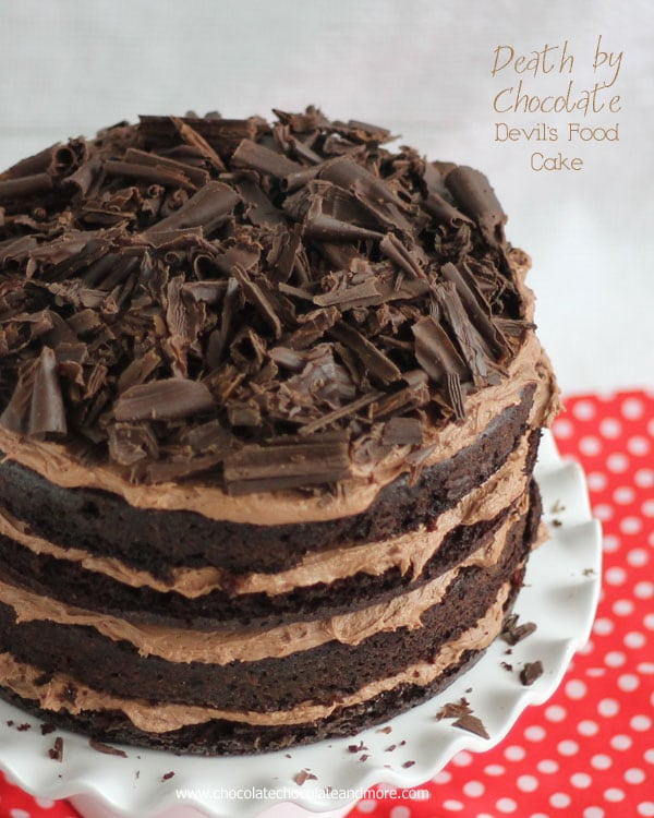 Death by Chocolate-Devils Food Cake from Chocolate Chocolate and More