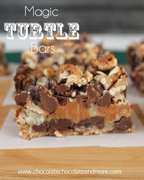 Magic Turtle Bars from Chocolate Chocolate and More