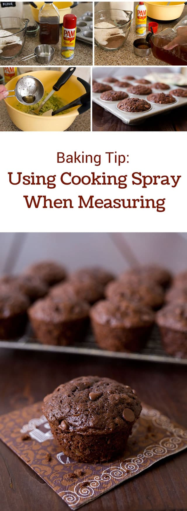 When you're measuring sticky liquids like agave, corn syrup or honey, spray your measuring cup with PAM Cooking Spray before you measure the ingredient. The sticky ingredients won't stick to the cup. Instead, it beads up and runs out of the cup.