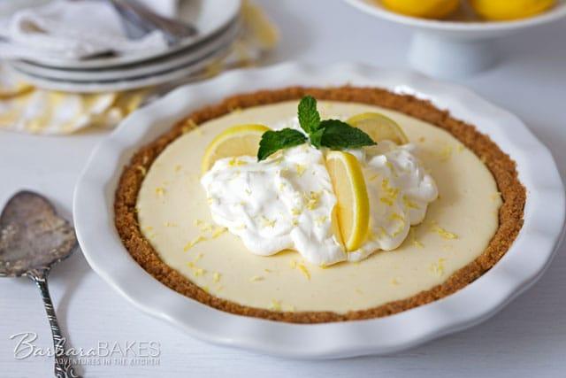 Creamy Lemon Yogurt Pie - Barbara Bakes