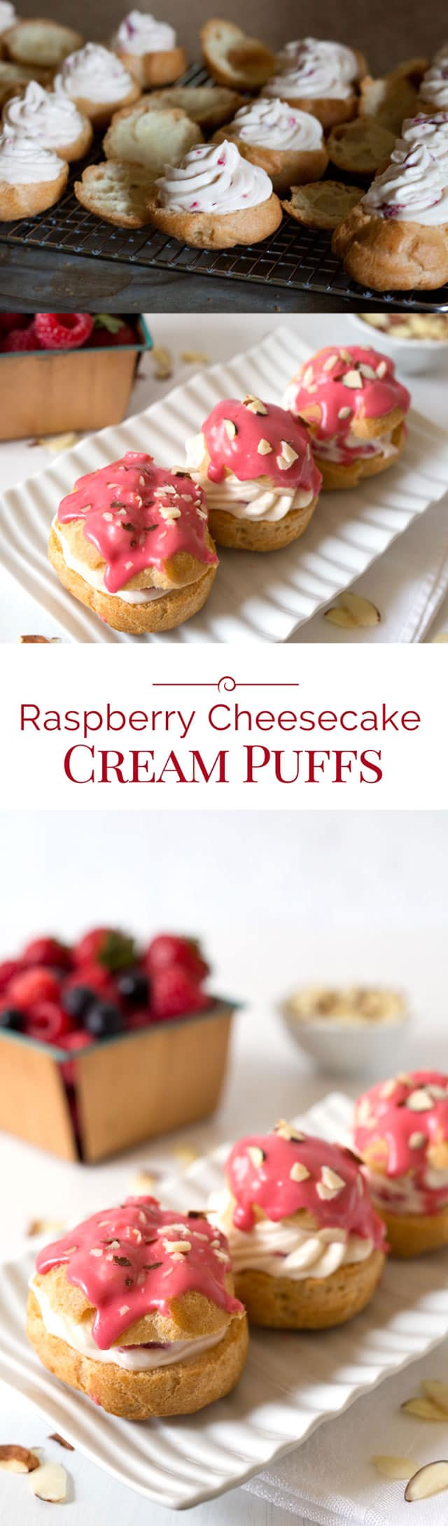 Raspberry-Cheesecake-Cream-Puffs-Collage-3-Barbara-Bakes