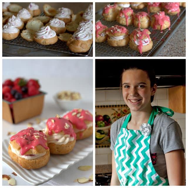 Making Makaylee's Raspberry Cheesecake Cream Puffs