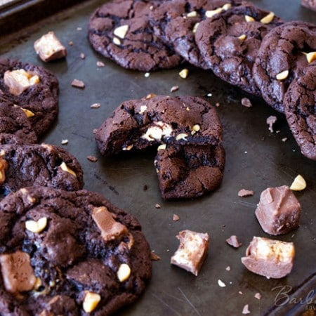 Chocolate-Snickers-Cookies-Barbara-Bakes