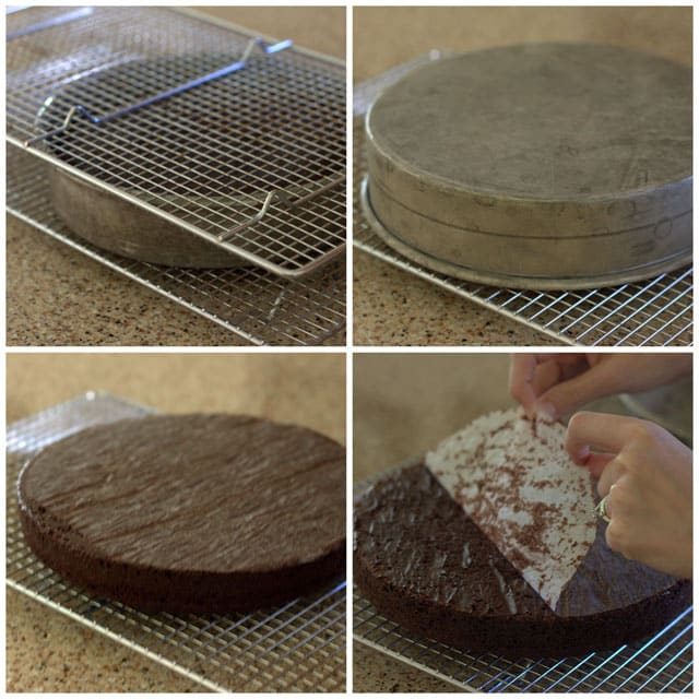 How to keep your cake layers from sticking to the pan.