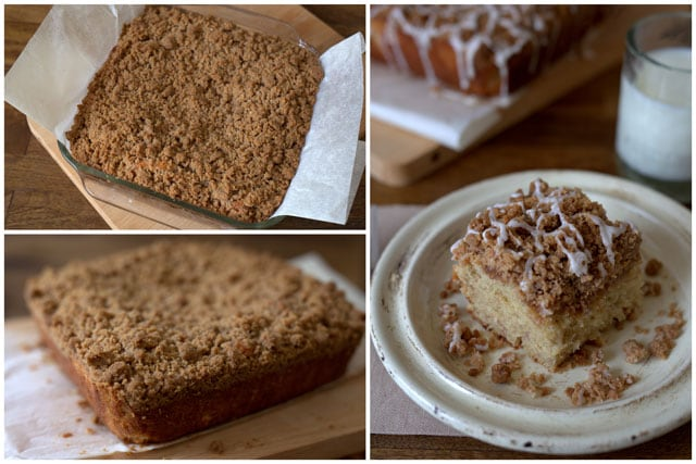 Baking a Buttermilk Banana Crumb Cake