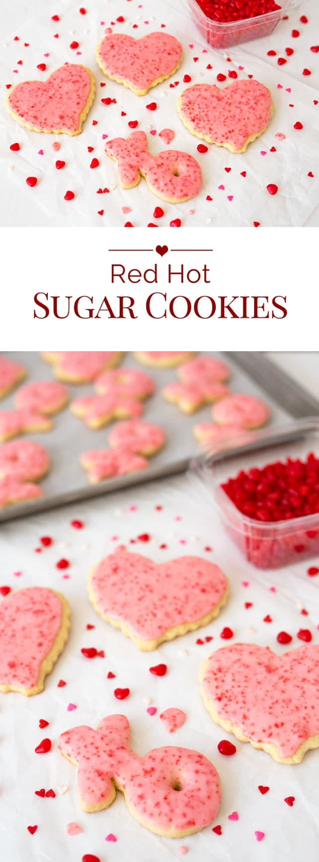 Valentine sugar cookies with cinnamon. These fun Red Hot Sugar Cookies ...
