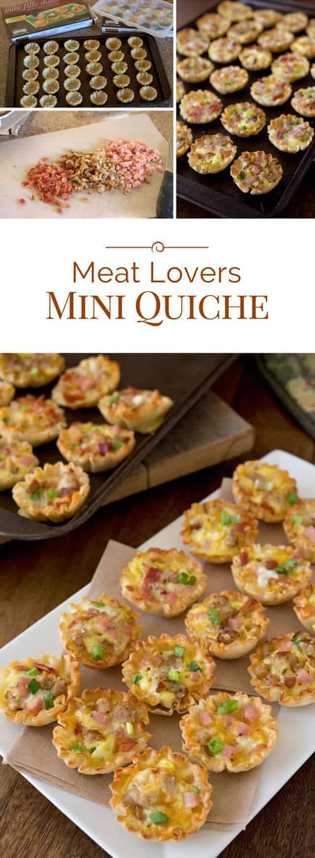 These little Meat Lovers Mini Quiche come together in a flash and would be a great addition to your next brunch.