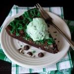 Mint Chocolate Chip Skillet Brownie