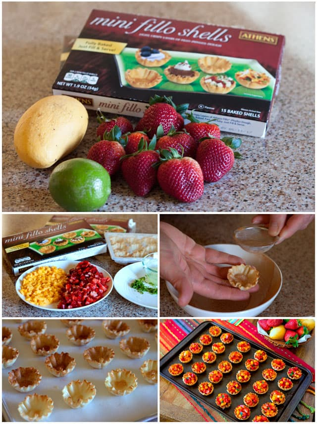 These Strawberry Mango Salsa Cups are sweet, juicy, crunchy and super easy to make. They're a great combination of flavors and textures perfect for summer.