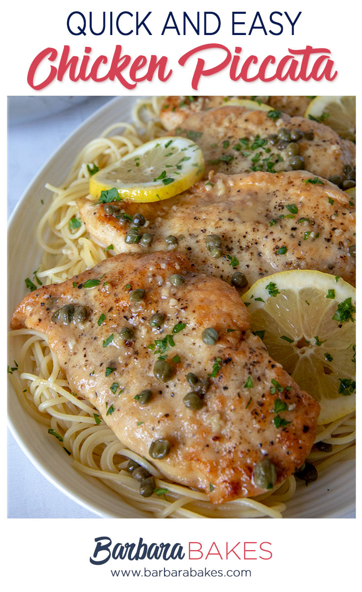 Quick and Easy Chicken Piccata with lemons and capers