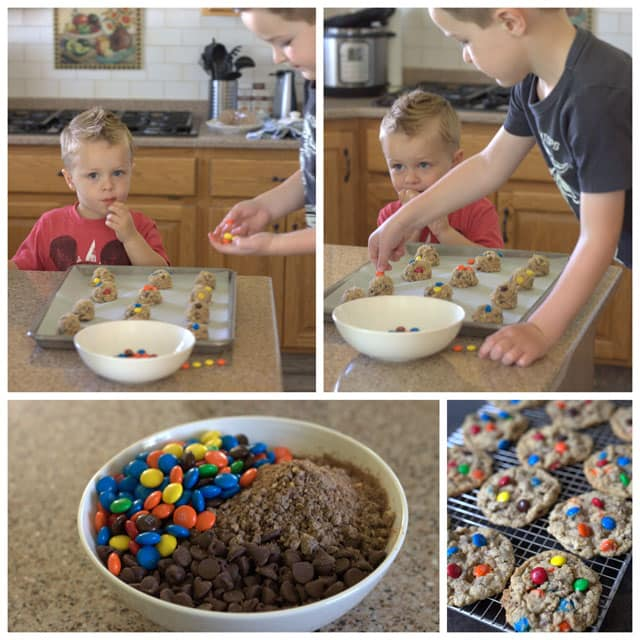 Making boy friend cookies.