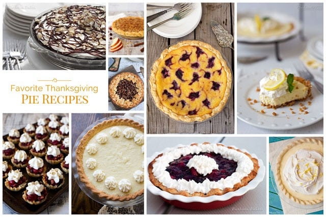 A roundup of Favorite Thanksgiving Pie Recipes to help you up your pie game. From classic pecan pie to cool and cream coconut pie, I've got you covered.