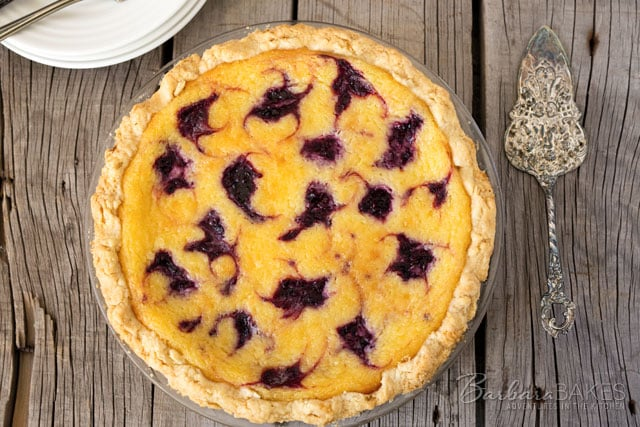 Lemon Blackberry Chess Pie